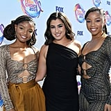 Chloe Bailey, Lauren Jauregui, and Halle Bailey at the Teen Choice Awards 2019
