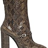 N°21 Elaphe Snakeskin Ankle Boots