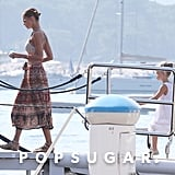 Nicole Richie and her daughter, Harlow, boarded their yacht in the South of France.