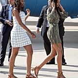 After enjoying a fun girls' trip in Morocco, Malia, Sasha, Michelle, and her mother, Marian, all jetted off to Madrid, Spain, in June 2016, as part of the first lady's Let Girls Learn initiative.
