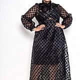 Buxom Couture Polka-Dot Organza Maxi Dress