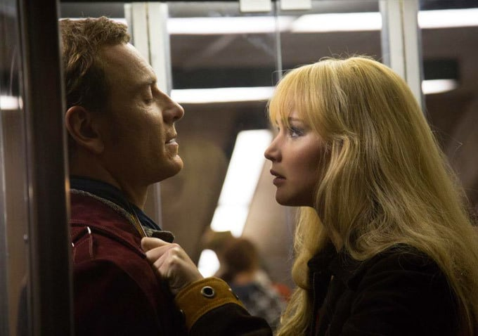 Magneto and Mystique look tense.