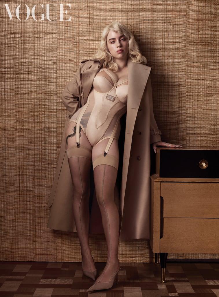 Billie Eilish Debuts Leg Tattoo For British Vogue Shoot