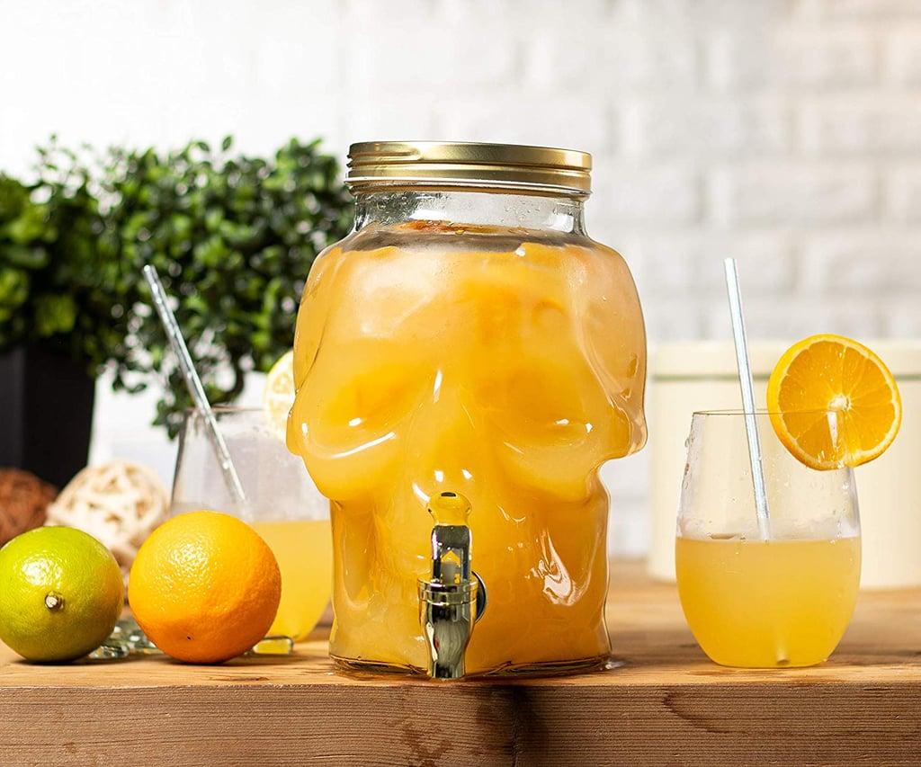 Skull Shaped Mason Jar Drink Container