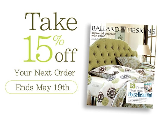 Sale Alert: 15 Percent Off at Ballard Designs
