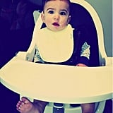 Molly Sims's son, Brooks, had fun testing out his new high chair! Source: WhoSay user MollySims