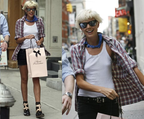 Celebrity Style Agyness Deyn Pirate Boots New York