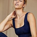 FP Movement Square Neck Good Karma Bra in Deepest Navy