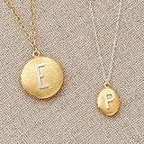 Pottery Barn Kids Gold Locket With Silver Letter