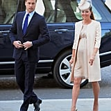 William looked quite princely as he walked with a very pregnant Kate.