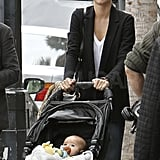 Miranda and Flynn Have a Lunch Date With Grandma
