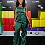 Normani Sttends the Launch of the Boohoo.com Spring Collection