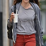 Jessica Biel flashed a smile.