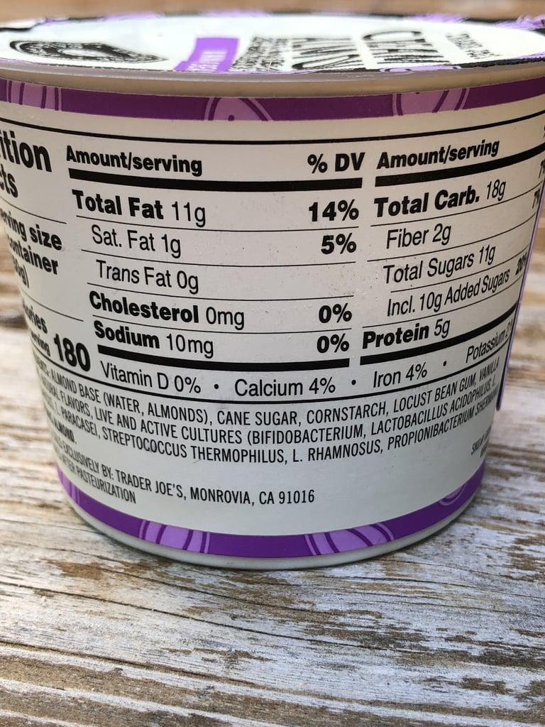 Nutritional Information For Trader Joe's Vanilla Bean Almond Milk Yogurt