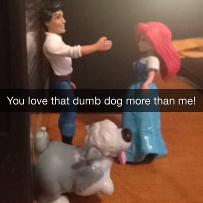 Disney Princess Snapchats