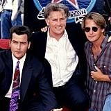 Martin Sheen, Charlie Sheen, and Emilio Estevez