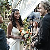 Joy Bryant as Jasmine and Dax Shepard as Crosby on Parenthood.