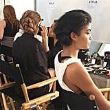 Models waiting backstage