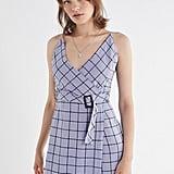 UO Amanda Surplice Belted Wrap Dress