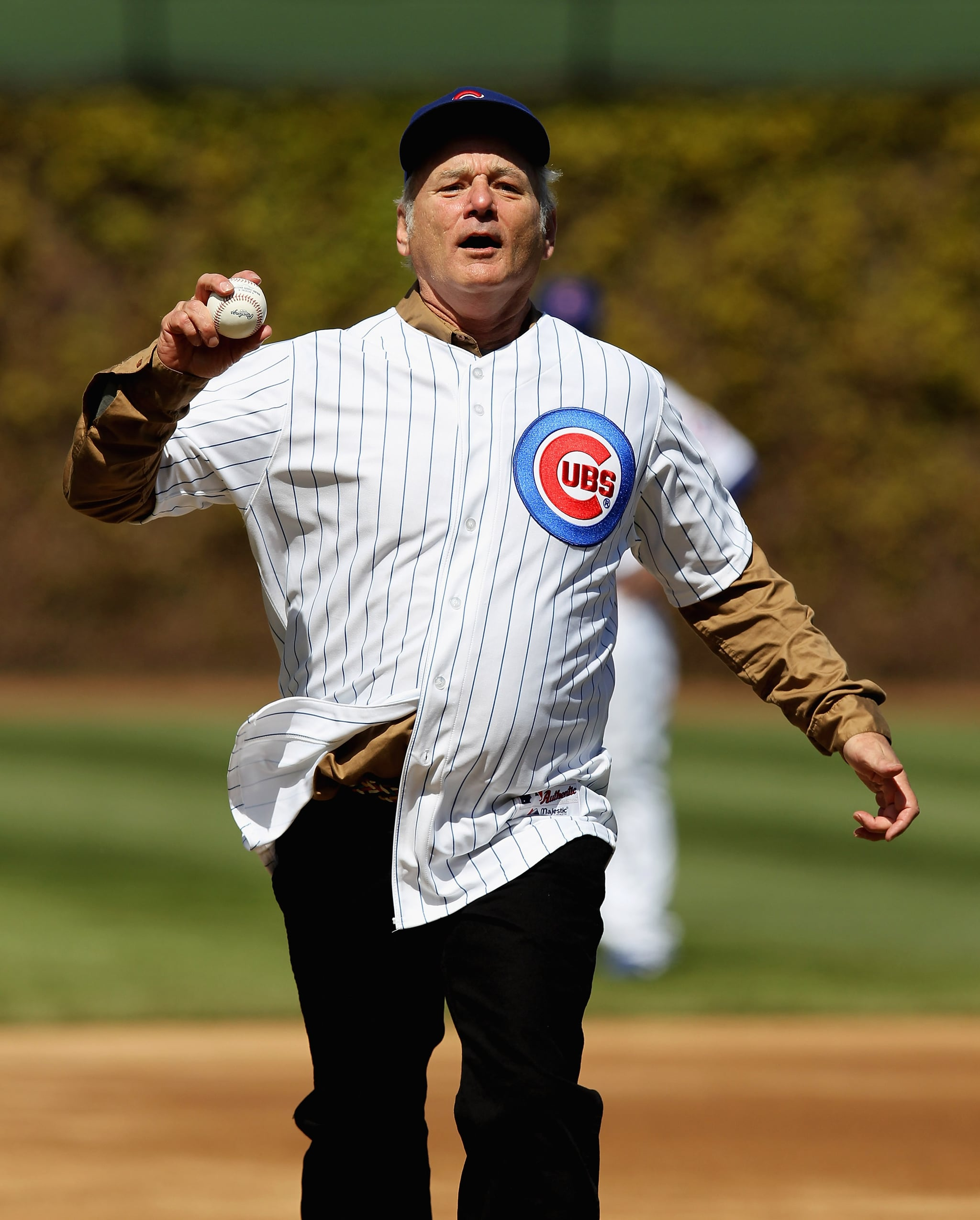 Image result for Pictures Bill Murray in Cubs gear