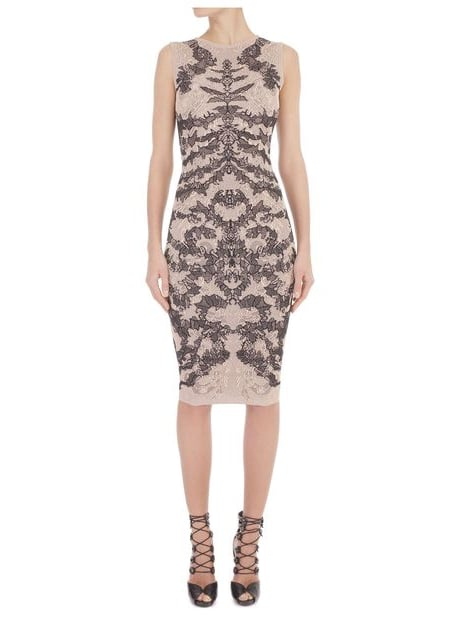 """If I need to get dressed up for a special event, one of my favorite designers is Alexander McQueen — the pieces are UNREAL! You can't help but feel amazing, truly special."" — Behati Prinsloo  Alexander McQueen Jacquard Pencil Dress ($1,395)"