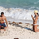 David Charvet shirtless with Brooke Burke in a bikini in St. Barts.
