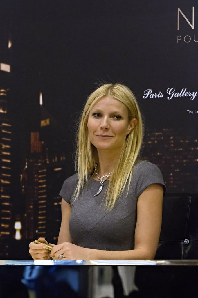 Gwyneth Paltrow was at an event at the Paris Gallery in Dubai.