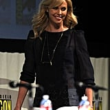 Charlize Theron joined the panel at Comic-Con.