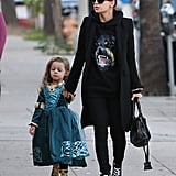 Nicole Richie and Harlow Madden arrived at a birthday party in Studio City, CA.
