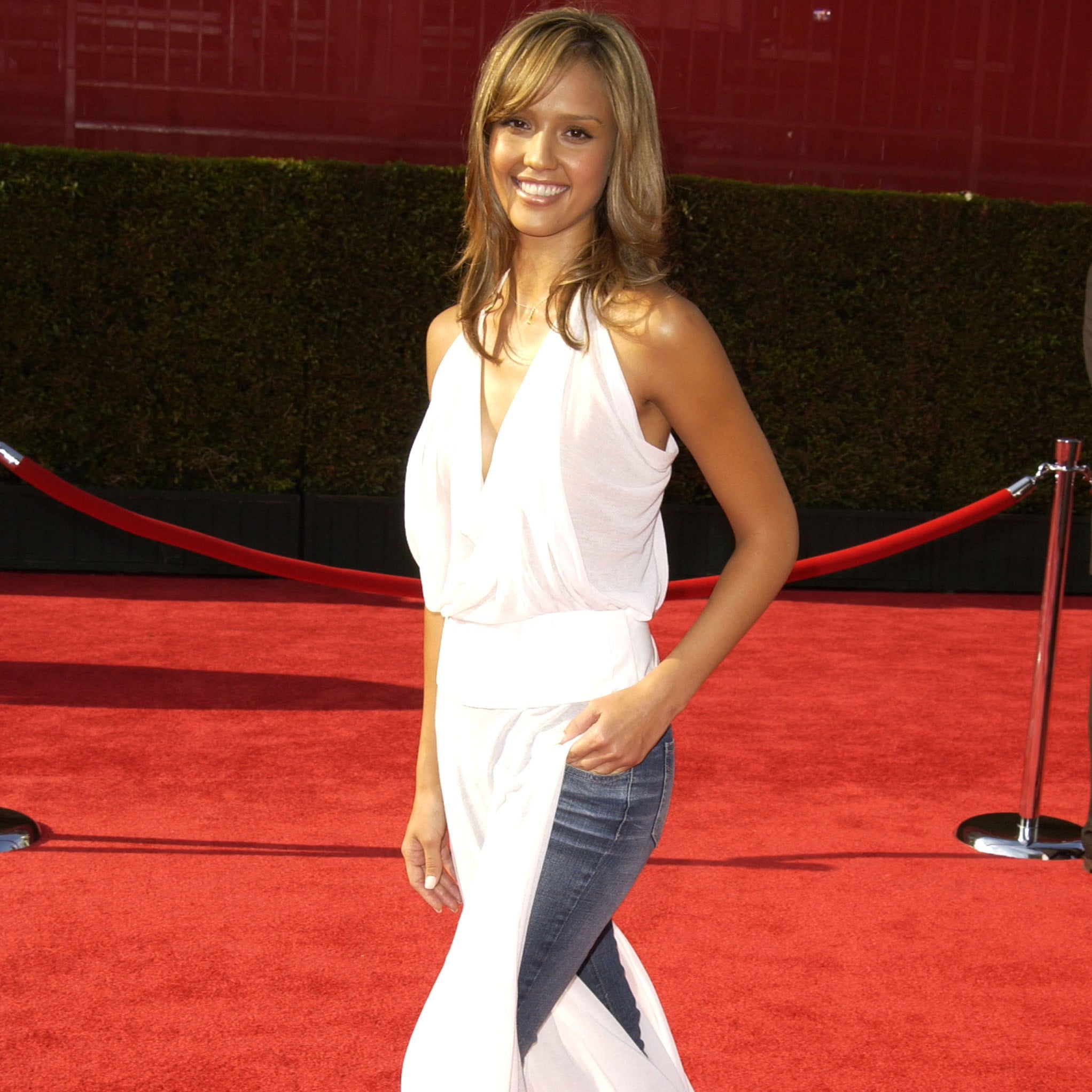 Dress Over Jeans Trend From The 2000s Popsugar Fashion