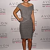 LC went for a grown-up look for an Avon event in 2009, wearing a curve-hugging Hervé Léger dress and YSL Tribute pumps. Lesson from Lauren: a red lip and co-ordinating nail polish oozes ladylike sophistication.