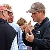 Prince Harry chatted with members of The Suffolk Foundation and the  participants taking part in today's Vaarders 2011 rowing exhibition.
