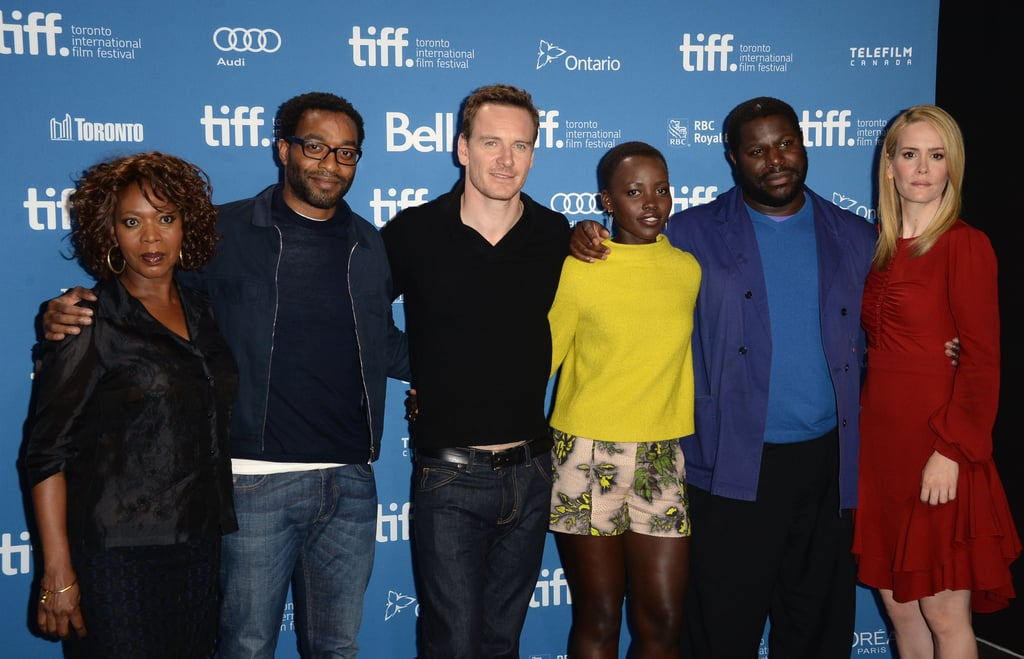The cast of 12 Years a Slave attended a press conference for the film.