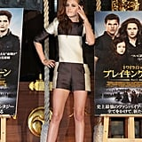Kristen Stewart posed at a Breaking Dawn Part 2 event in Japan.