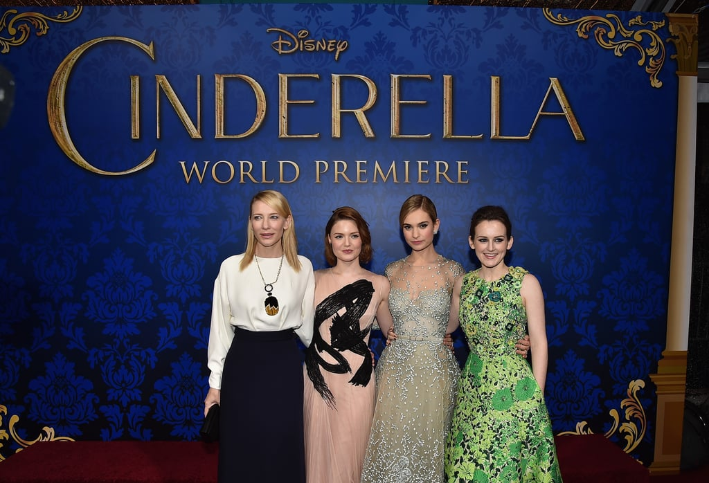 Pictures of Lily James at World Premiere of Cinderella