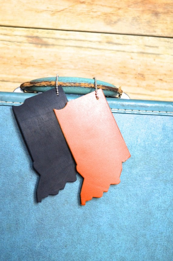 Indiana Silhouette Luggage Tag