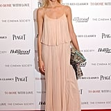 Anja Rubik made event dressing look easy in a pleated maxi dress.