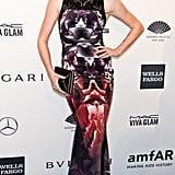 Ireland Baldwin, wearing Gabriela Cadena, at amfAR's New York Gala.