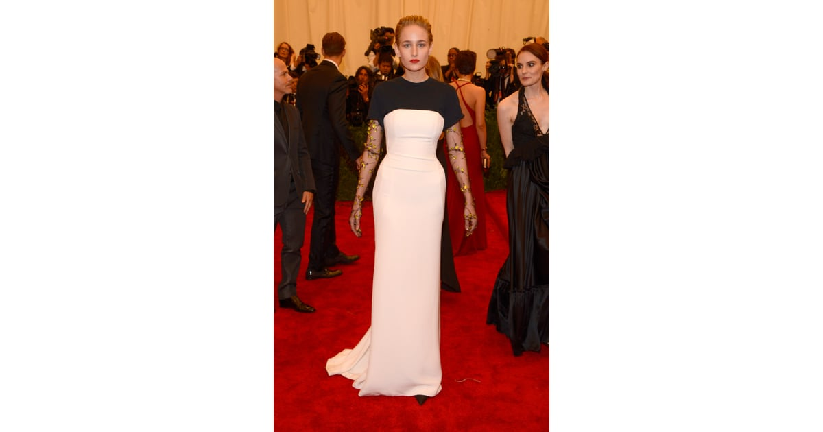 30ceeaa2826a Leelee Sobieski s black-and-white Christian Dior gown at the Met Gala