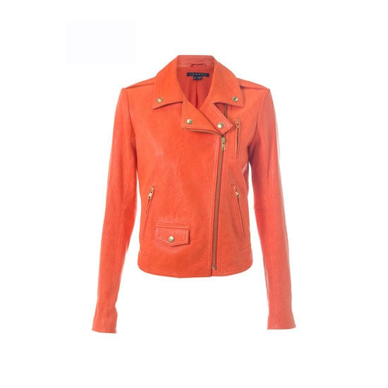 Ooh hello melon leather jacket at 30% off! Have a little fun with leather this season, it can be more versatile than you think. — Laura, shopstyle.com.au country manager Jacket, $770, Theory at Another Love