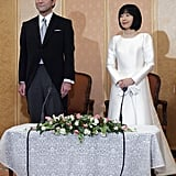 Sayako Kuroda and Yoshiki Kuroda The Bride: Sayako Kuroda (formerly Princess Nori) is the daughter of Emperor Akihito and Empress Michiko of Japan. She gave up her title and left the Japanese Imperial Family to marry Yoshiki Kuroda. She's also a former ornithologist. The Groom: Yoshiki Kuroda, an urban designer with the Tokyo Metropolitan Government. When: The pair wed on Nov. 15, 2005. Where: Their marriage occurred at the Imperial Hotel in Tokyo.