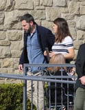 Jennifer Garner and Ben Affleck Have a Friendly Reunion at Church With Their Kids