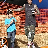 Travis Barker and Landon