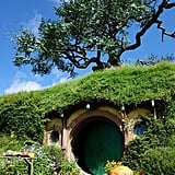 Bilbo Baggins's home includes an artificial oak tree above.
