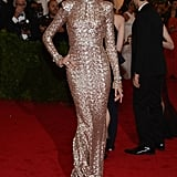 Karolina Kurkova knows how to make an entrance, and her gilded, body-hugging Rachel Zoe gown entrance at the Met Gala was one of her best yet.