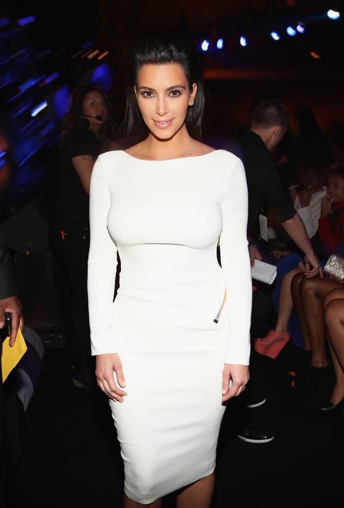 Kim Kardashian made an appearance at the BET Awards in LA.