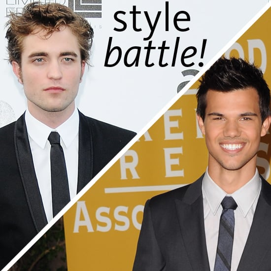 Check out Pictures of Robert Pattinson and Taylor Lautner From Twilight For a Fashion Style-Off!