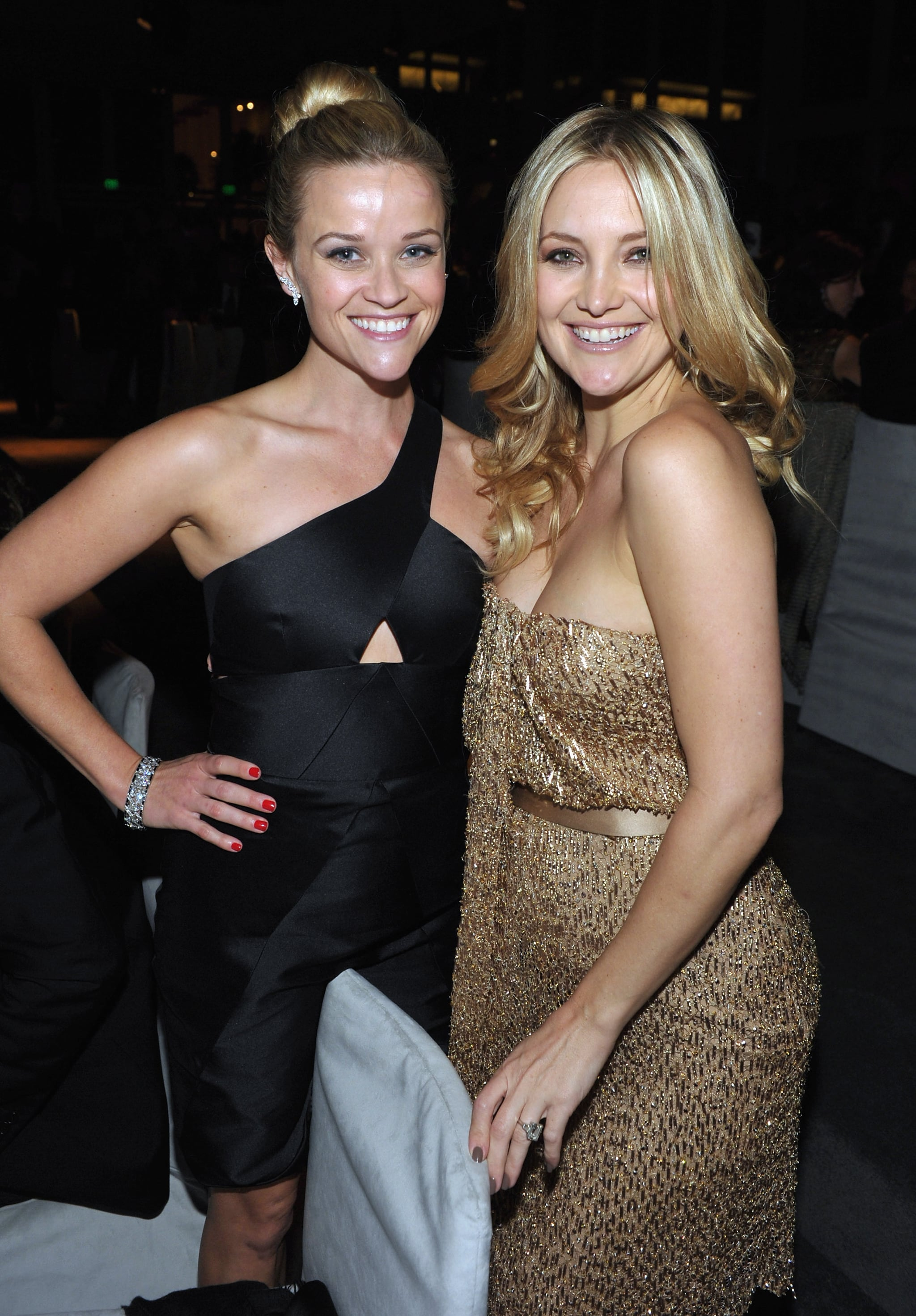 Reese Witherspoon and Kate Hudson hung out inside LACMA's Art + Film bash.