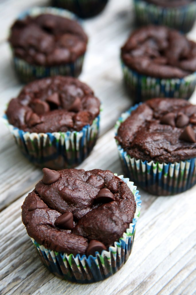 Double Chocolate Banana Protein Muffins