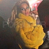 "Beyoncé Knowles films the video for ""Party."""